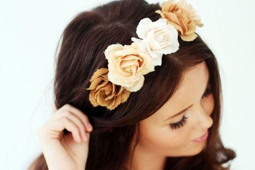 Una corona de flores seguramente te hará lucir ¡espectacular!