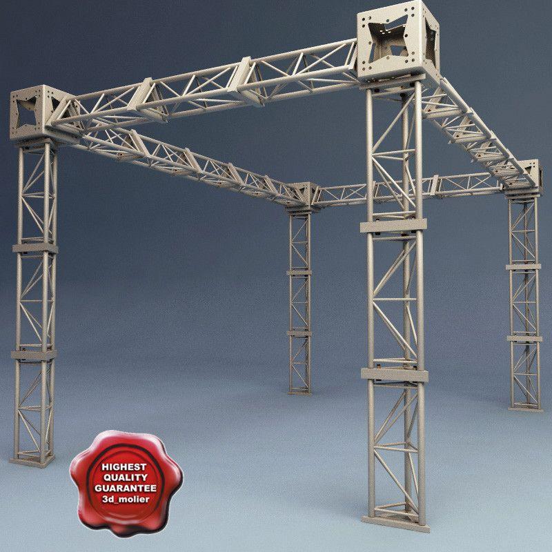 steel truss v2 c4d Steel trusses, Lighting truss, Roof