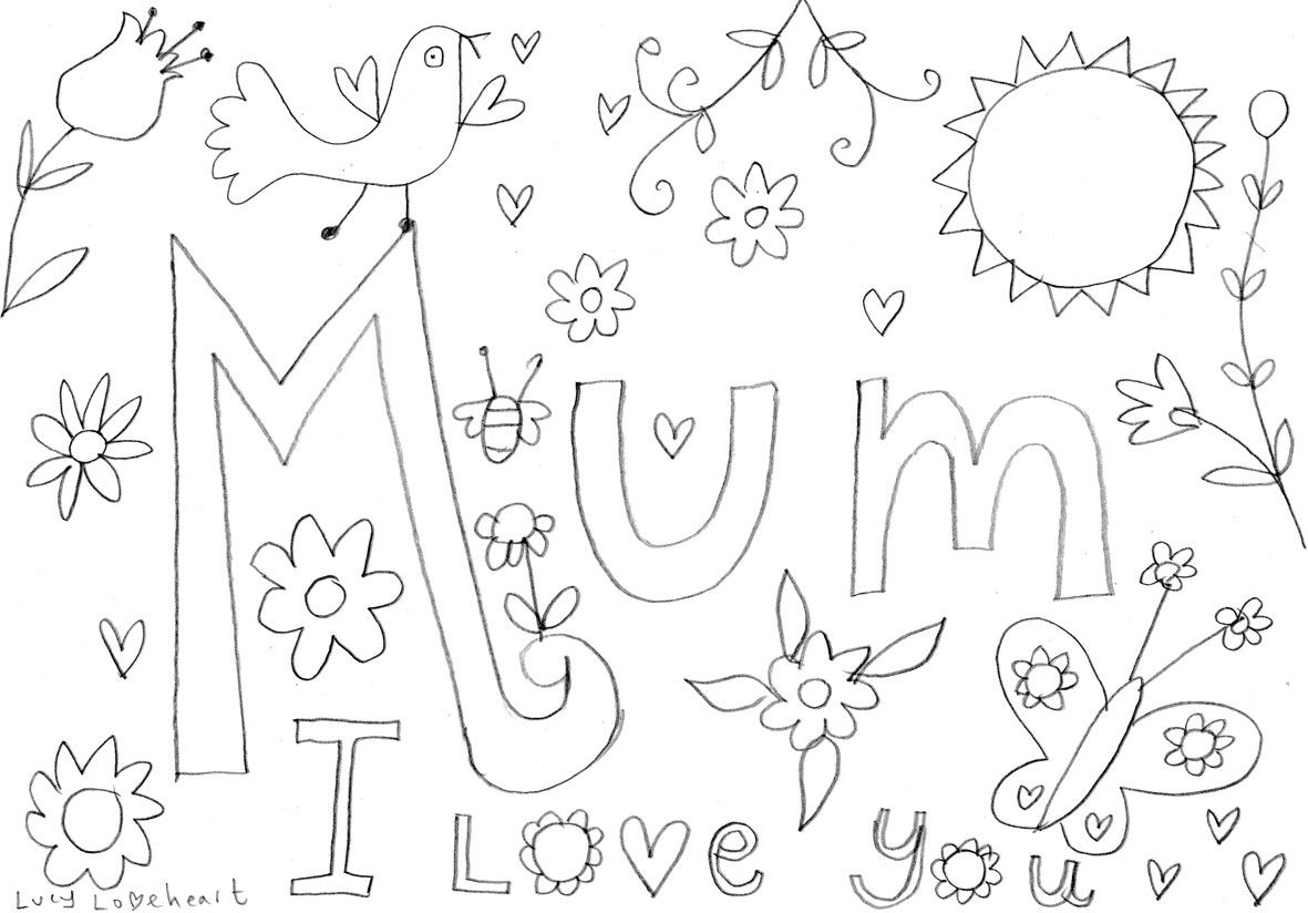 Image Result For Mum Colouring In Sheet