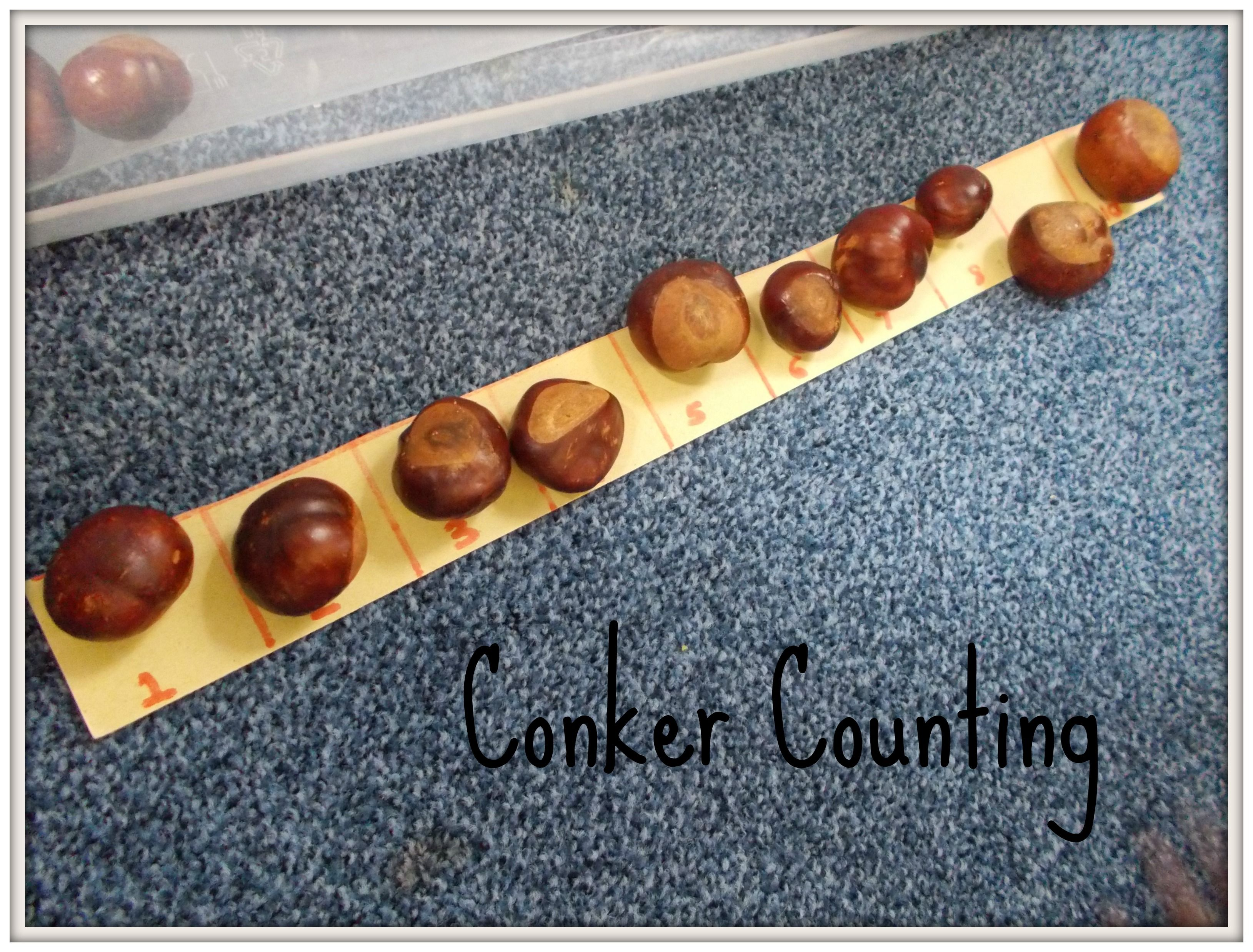 Outdoors By Ri Create A Number Line For A Conker Counting
