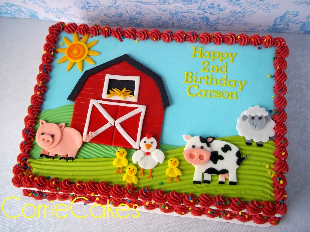 Strange Farm Cake Farm Animals Birthday Party Barnyard Birthday Party Funny Birthday Cards Online Sheoxdamsfinfo