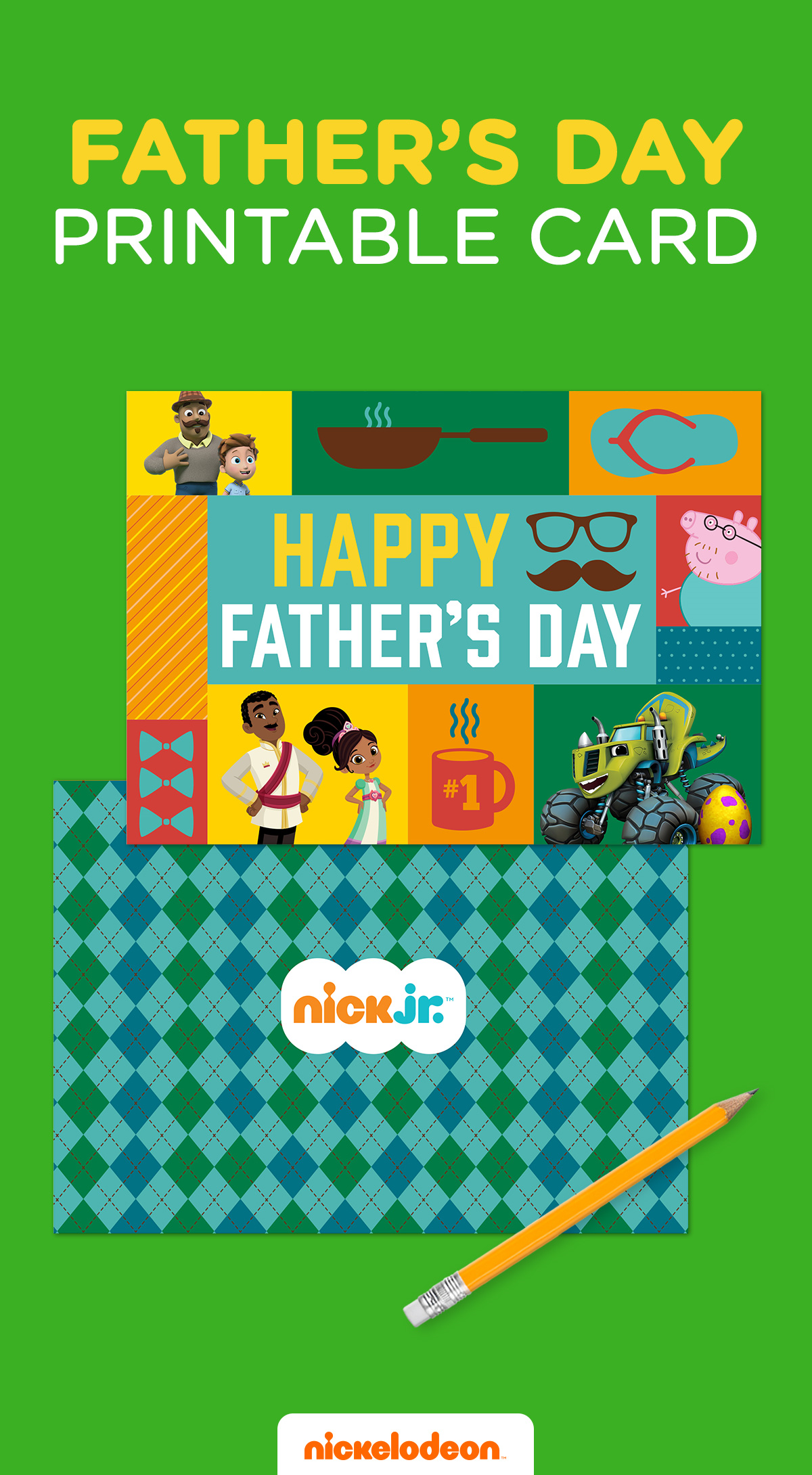 Nick Jr Printable Father S Day Card With Images