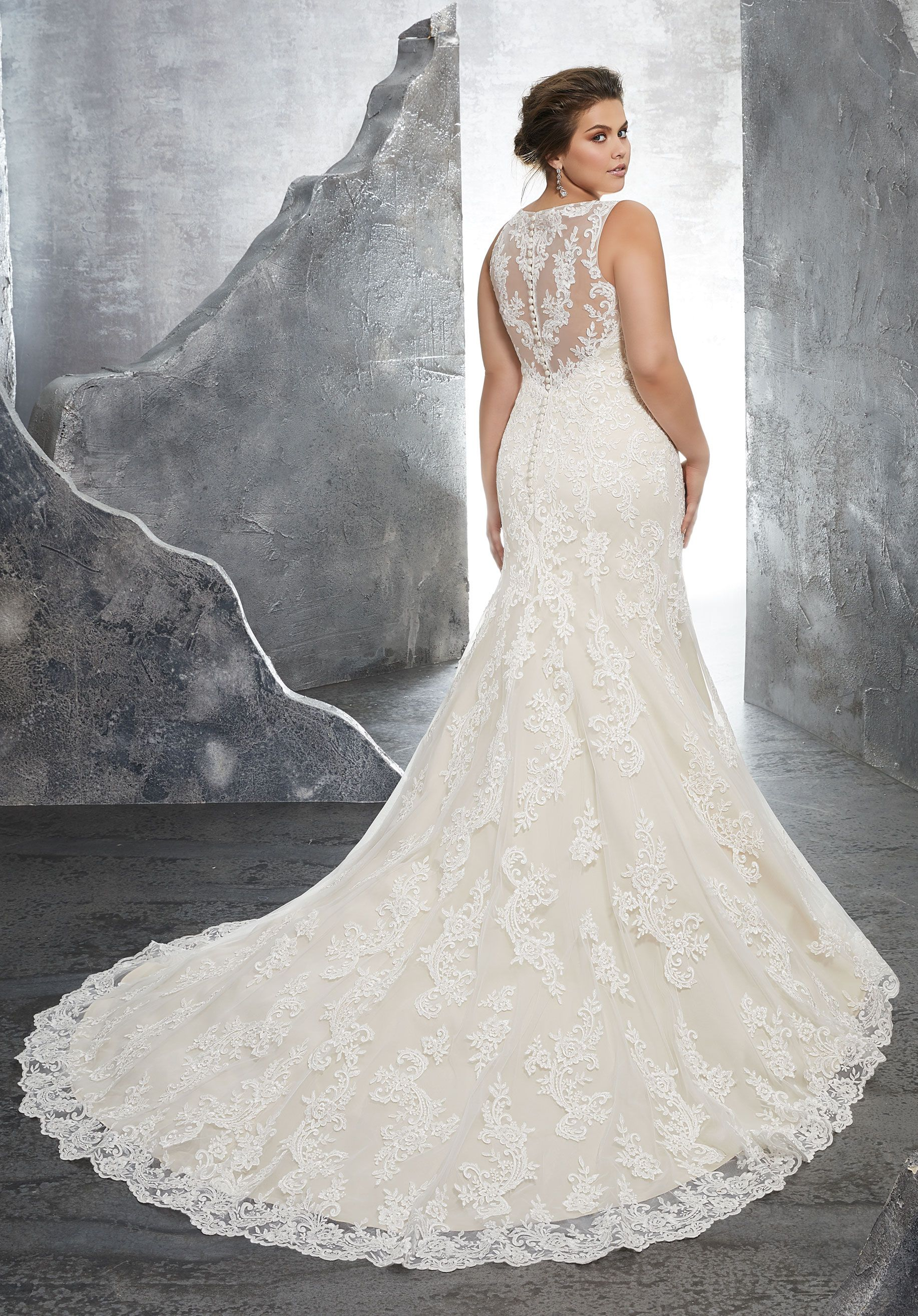 Form fitting lace wedding dresses  A Unique Romantic Dress  Everything EngagementWeddings