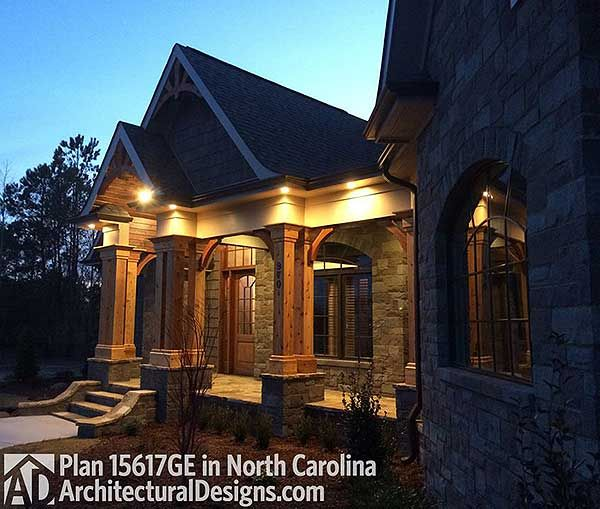 Award Winning Log Home Builders: Plan 15617GE: Award-Winning Mountain Craftsman Plan In