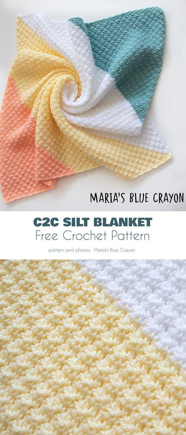 Spring C2C Blanket Free Crochet Patterns
