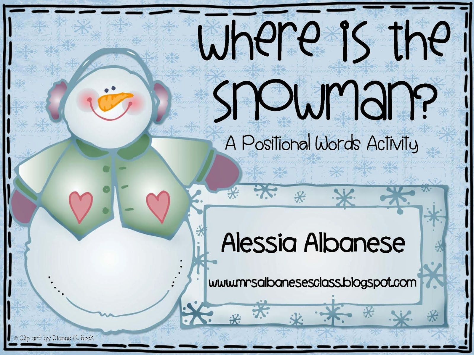 Where Is The Snowman A Positional Words Activity Freebie
