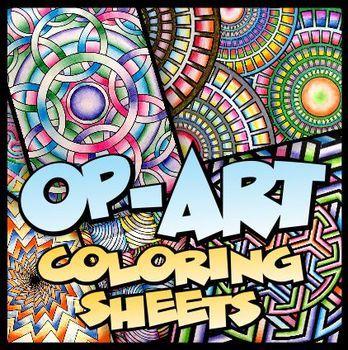 op art coloring sheets 100 unique designs 2 sizes