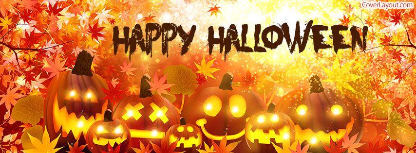 Happy Halloween Pumpkin Faces Facebook Cover Coverlayout Com