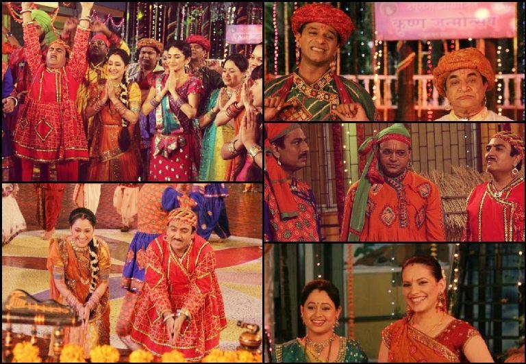 Cast of Tarak Mehta Ka Ulta Chashma celebrating Janmashtami in
