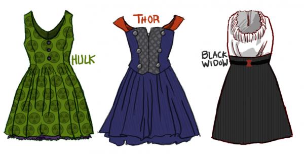 Perfect Avengers Dress Designs   Fashionably Geek