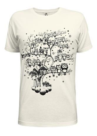 Owl's Tree Offwhite Guy's Tee  designer g.s.f. £15.00