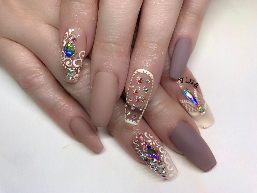Pin by Rochelle Romero on Claws (nails) | Pinterest | Jewel nails ...