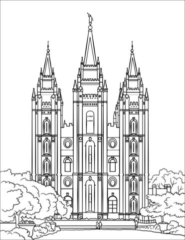 Salt Lake City Temple Coloring Page Nursery Lds Coloring