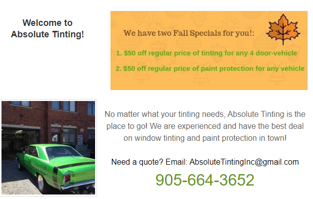 Absolute Tinting Window Tinting 905 664 3652 Cool Photos Love