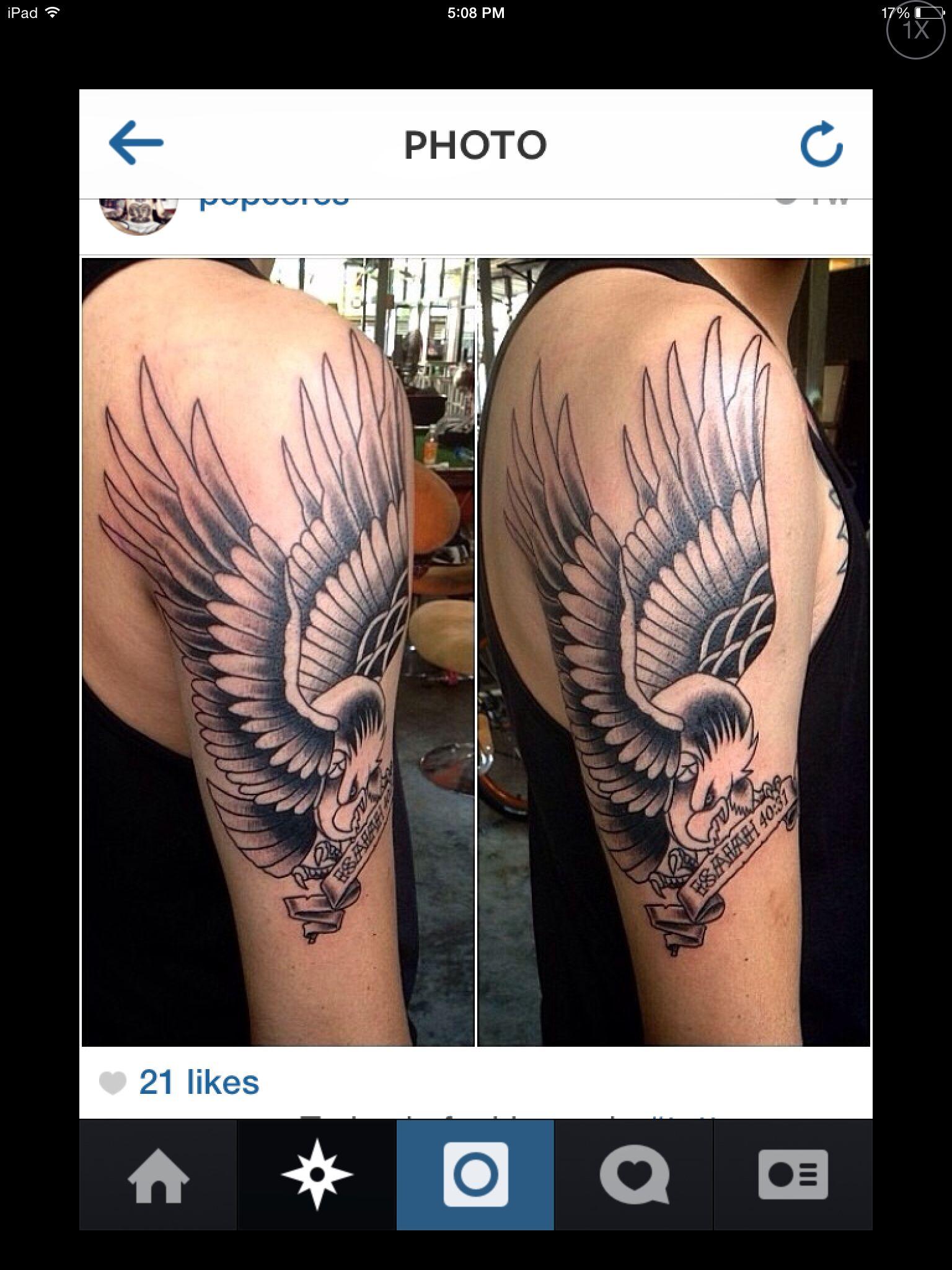 Isaiah 40:31 Tattoo : isaiah, 40:31, tattoo, Eagle, Tattoo, Isaiah, Tattoos,