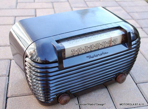 Motorola Art Deco Six Tube Antique Radio.  Hear it play before you pay. on Etsy, $139.99