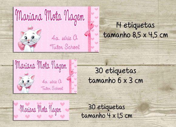 761f683ba1 Kit adesivo material escolar Marie | ETIQUETAS | Material escolar ...