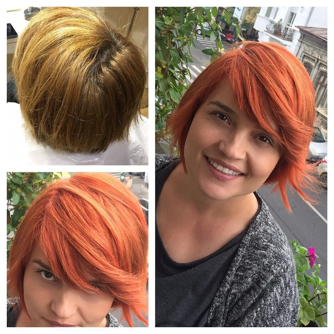 Intense Copper hair color   Copper hair color, Oil slick ...
