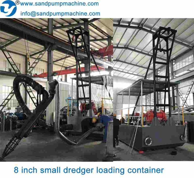 Portable river sand suction dredger is widely used for sand