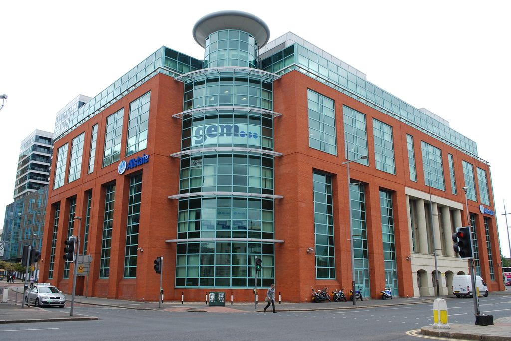 Belfast Modern Red Brick Office Building Oxford Street Oxford