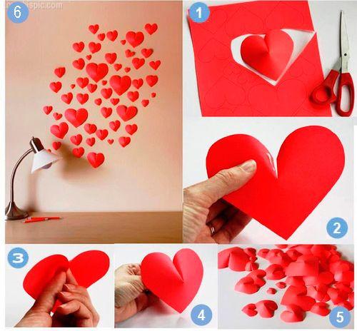 Aprenda Fazer fazer em: www.receitaartesanato.com.br/coracoes-com-papel-efeito-3d/