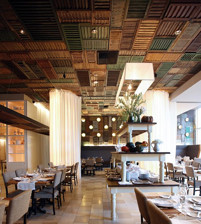Ella Dining Room U0026 Bar By UXUS , Via Behance Look At The Old Shutters On  The Ceiling!