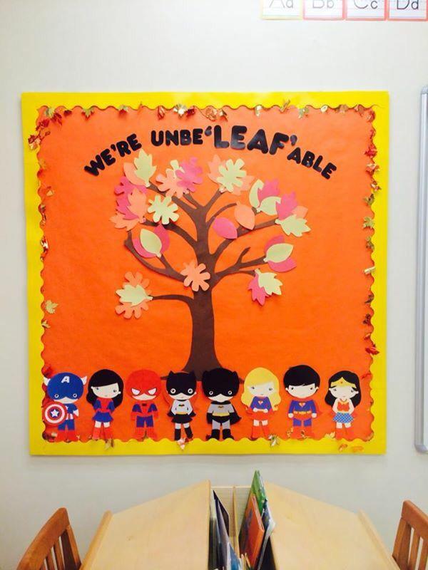 Fall bulletin board #fall #prek #novemberbulletinboards