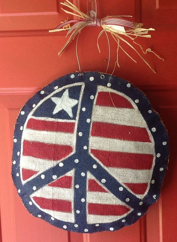 Patriotic Peace Sign by NataliesFabArt on Etsy, $30.00
