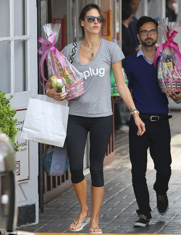 Alessandra ambrosio finds treats from the easter bunny for her alessandra ambrosio finds treats from the easter bunny for her kids negle Gallery