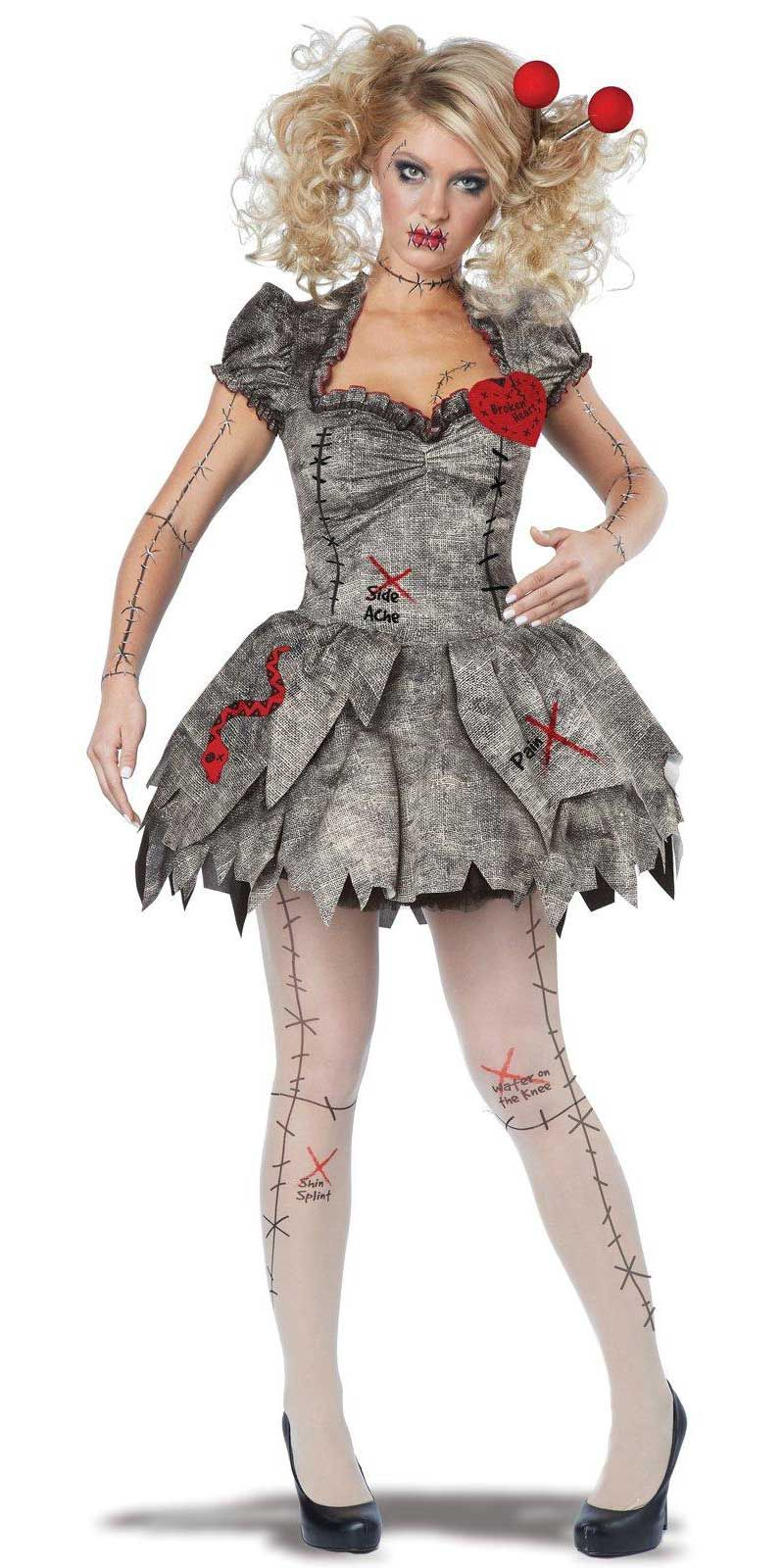 Voodoo dolly adult costume who pushed your pins womens voodoo dolly adult costume who pushed your pins baditri Images