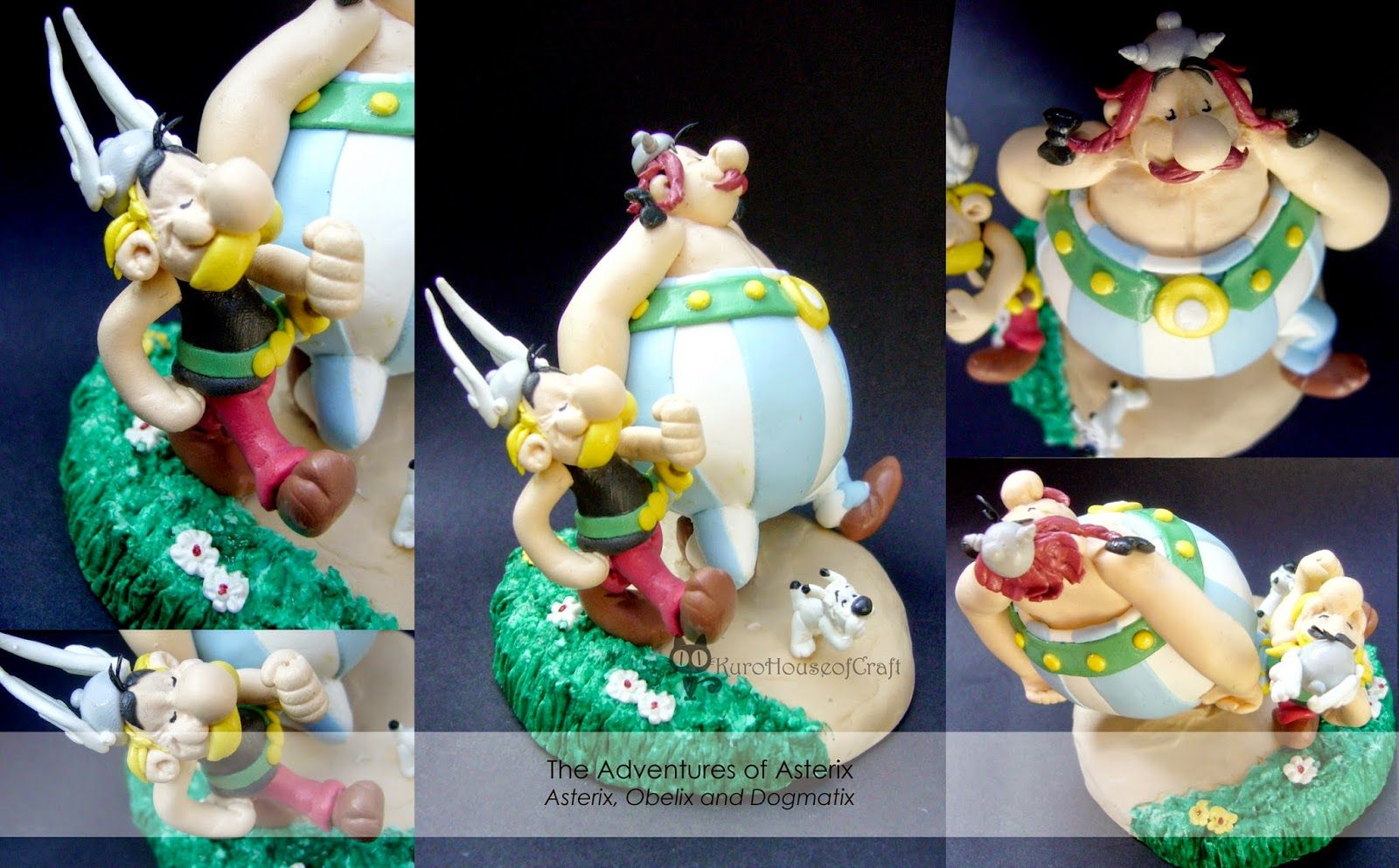 Mini Diorama Clay The Adventure Of Asterix Asterix Obelix And Dogmatix