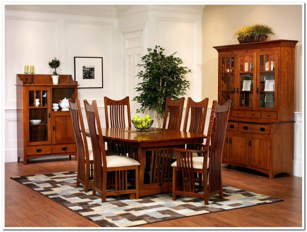 Bon Dining Room 7 Pieces Old Oak Mission Style