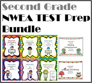 NWEA MAP Inspired 2nd Grade Bundle: 6 Practice Tests for ...
