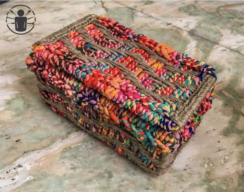 This small storage box is called Sarangi. The entire box along with the lid was handwoven by our skilled artisan women. You can store anything of importance in this box and keep it close. #wastetowow #wovenfurniture #vintagefurniture #charpoy #charpai #weaversofinstagram #sustainableliving #sustainabledesign #circulareconomy #circularfurniture #supportyourladies #surviveandthrive #sustainableliving #sustainablefurniture #circularfurniture #skilledsamaritan #vocalforlocal #womenentrepreneurs #enr
