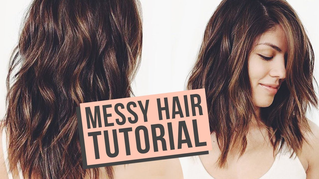 Easy 80s Hairstyles For Short Hair: Messy Waves Hair Tutorial - YouTube