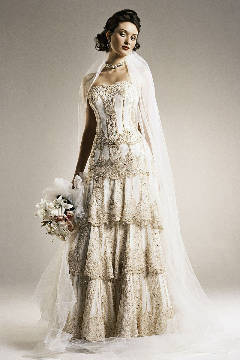 High end sleeveless tiered lace sequined sheath wedding dress with high end sleeveless tiered lace sequined sheath wedding dress with lace wedding dresses ombrellifo Images