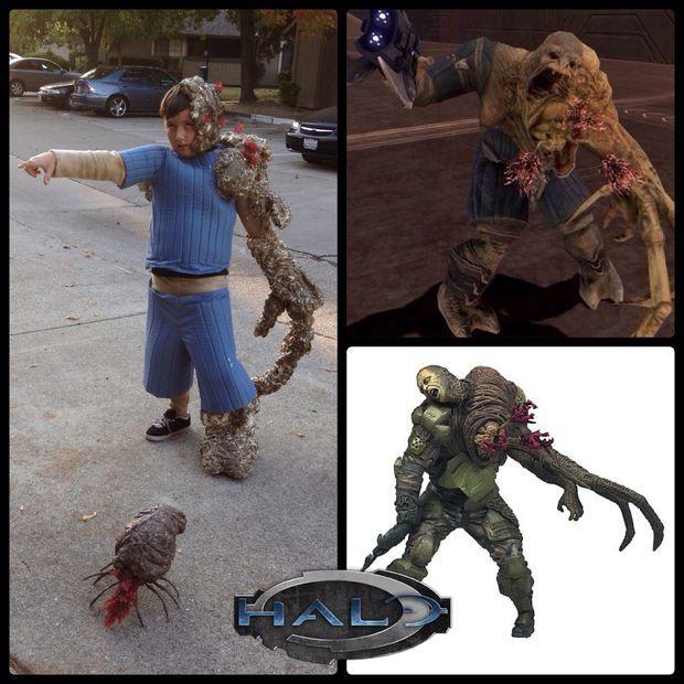 Tonio's Halo Flood-Infected Costume | Easy Halloween