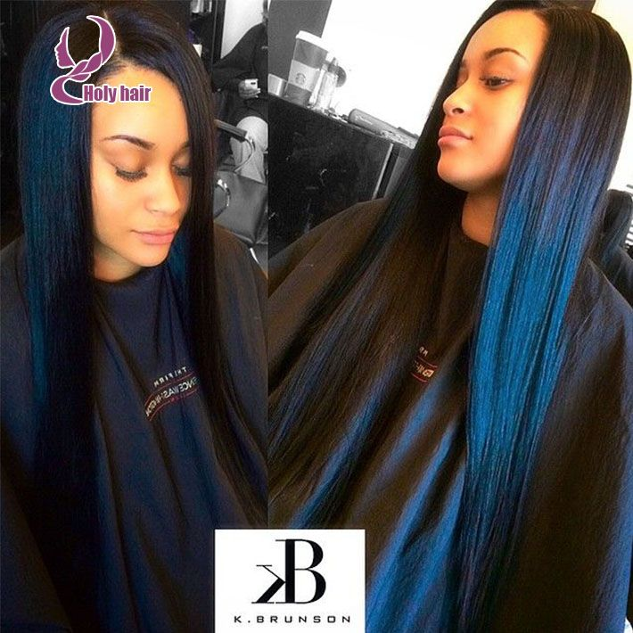 Long Straight Dark Blue Ombre Human Hair Wig Http Posting Aliexpress