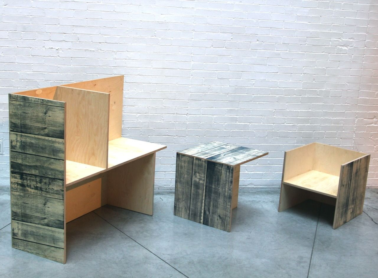 Superior Modular Wood Print Boxes Screen Printed Wood Grain Onto Europly Side Table/chair  And Storage Good Ideas