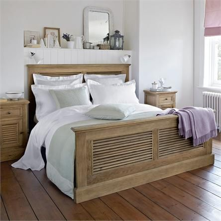 Best The Cannes Weathered Shutter Bed From Feather And Black 400 x 300