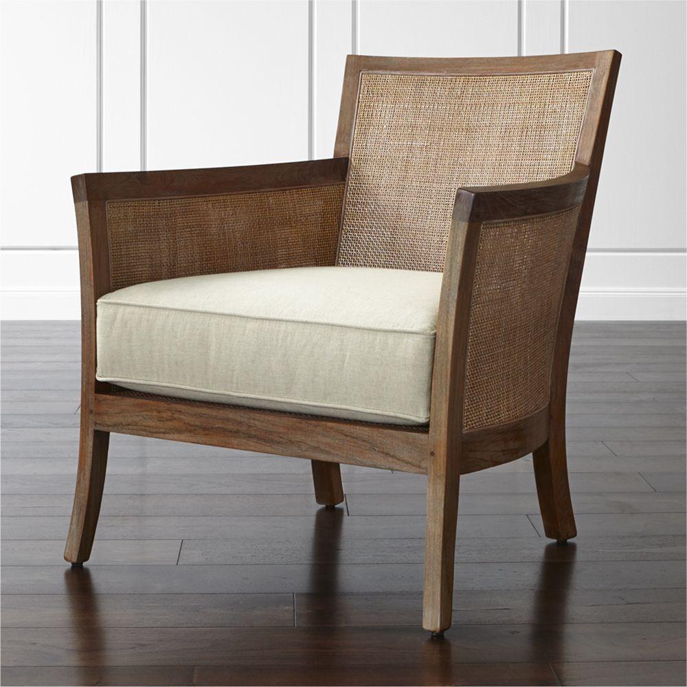Blake Rattan Arm Chair with Fabric Cushion + Reviews