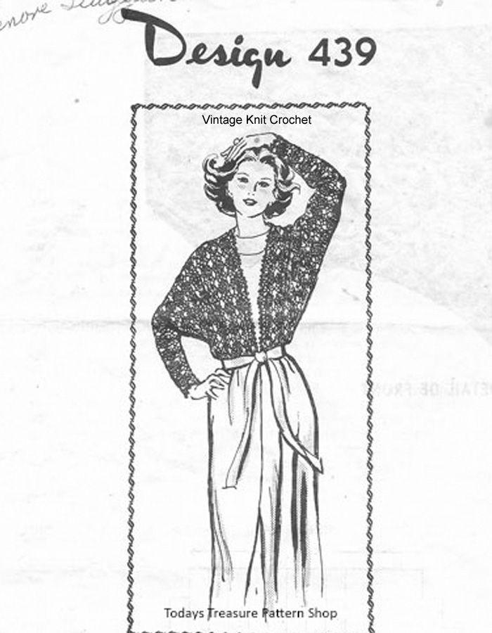 Lace Jacket Crochet Pattern, Laura Wheeler Design 439