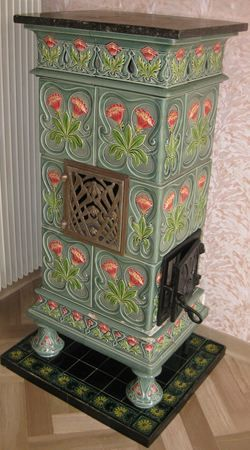 Poeles En Faience Et En Fonte Poeles En Faience Anciens Vintage Stoves Wood Stove Fireplace Antique Stove