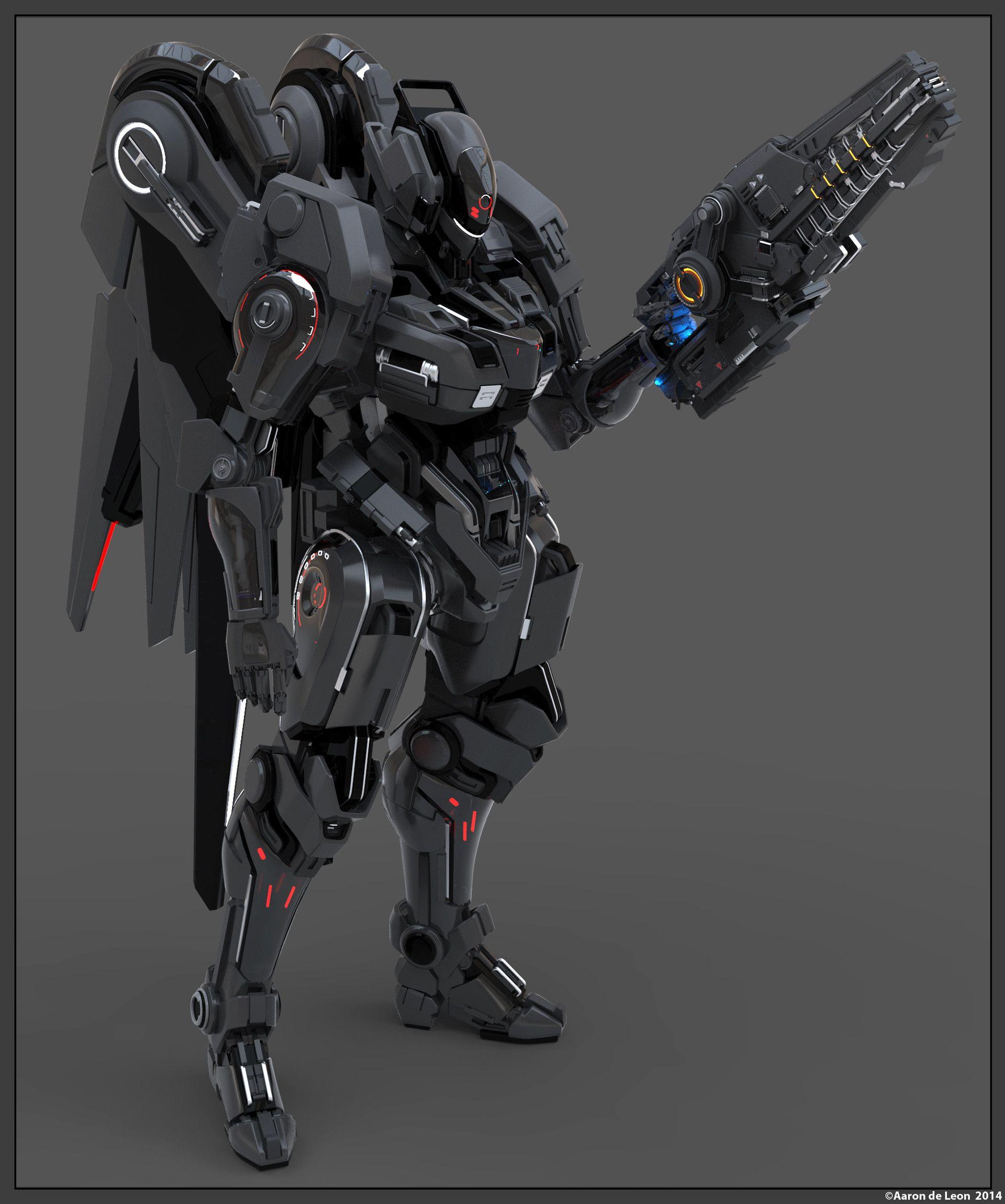 Vercury Mecha Aaron Deleon Diseno De Robot Robot De Combate Mechas