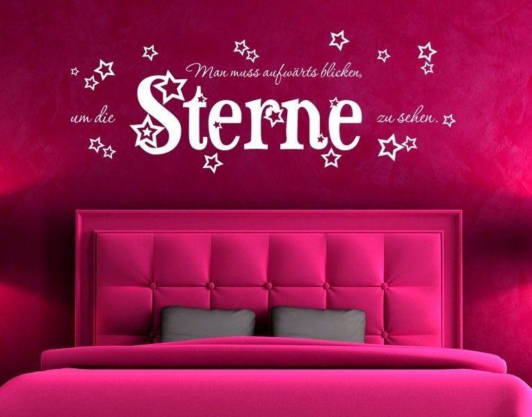 Wandtattoo Aufwärts blicken Farbinspiration Pinterest Walls - wandtattoo schlafzimmer sprüche