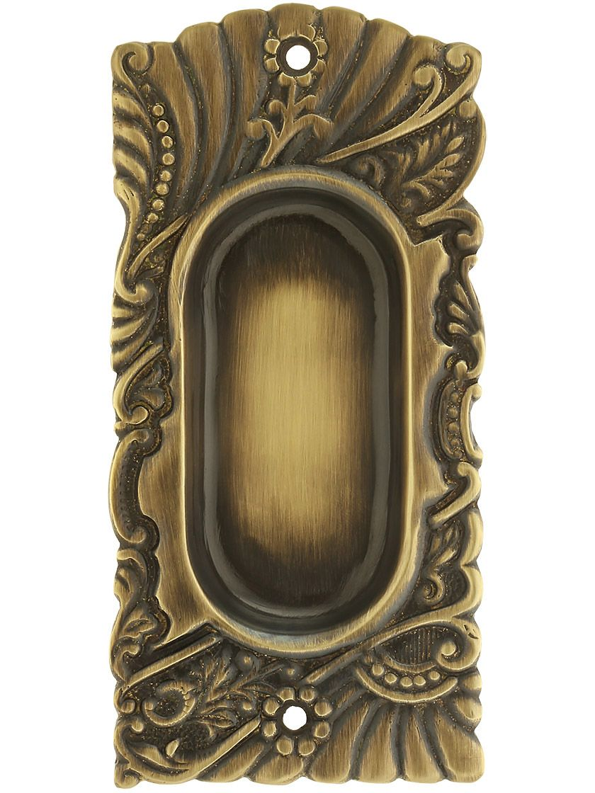 Roanoke Pocket Door Pull In Antique By Hand Finish Pocket Door