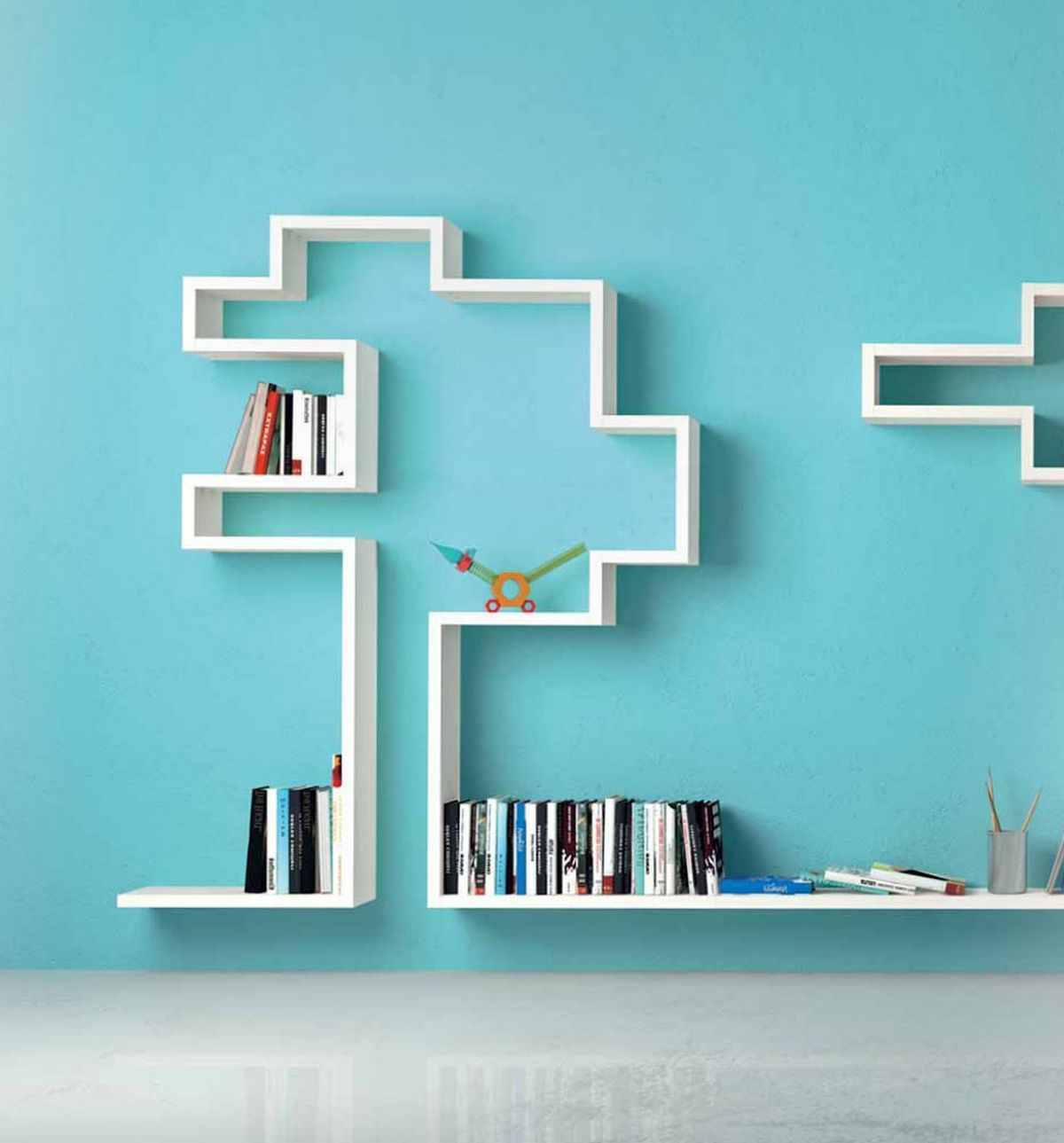 lago linea modular wall shelving innovative design | interior