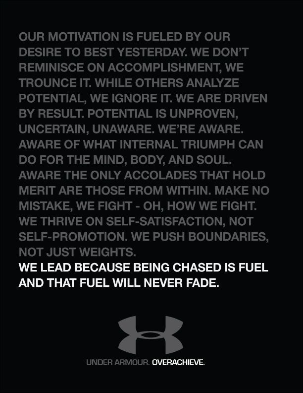Under Armour Sayings Under Armour Ma...