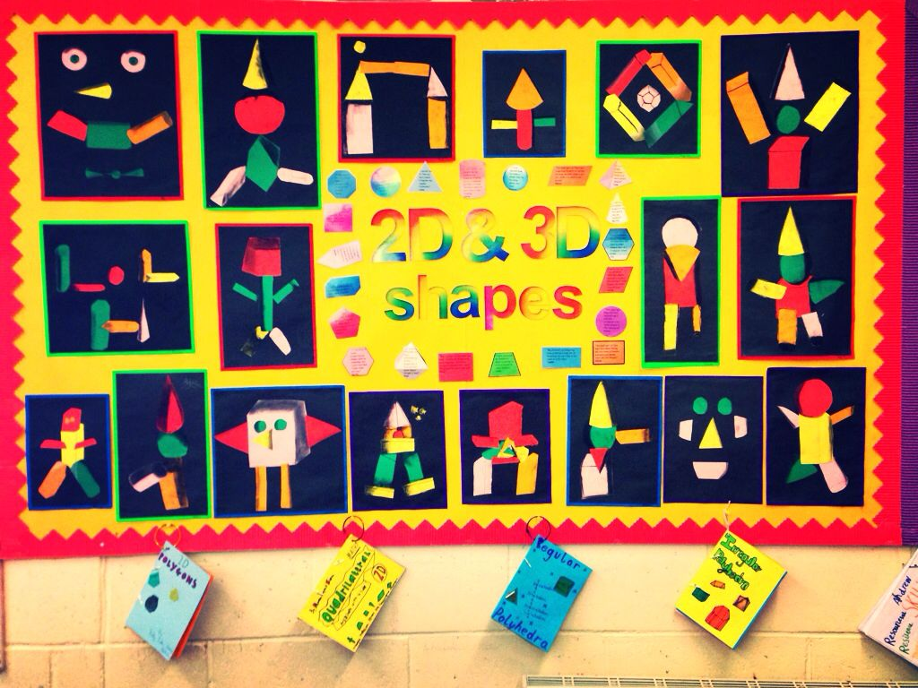 2d Shape Display Maths Ideas T Maths Eyfs And Shapes