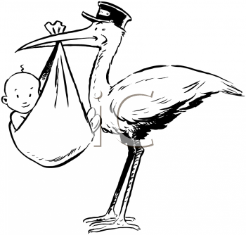 New Baby Clipart Retro Stork With Baby Babies Pinterest Baby